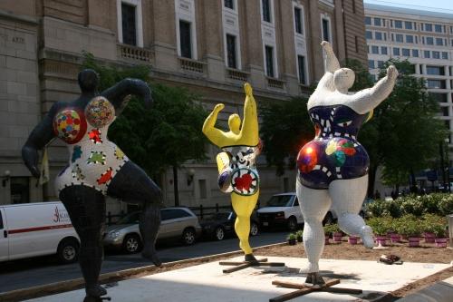 """""""The Three Graces"""", 1999, by Niki de Saint Phalle"""
