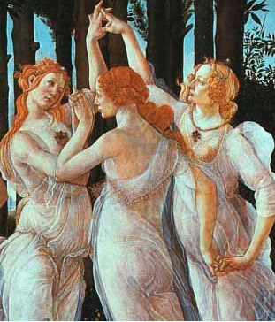 "Detail from ""Primavera"" by Sandro Botticelli, c. 1482; Uffizi Gallery"