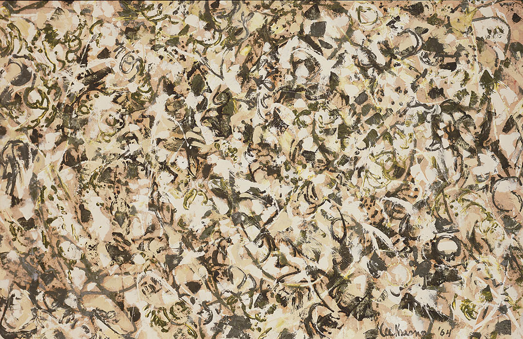 Lee Krasner's The Springs, 1964, in NMWA's collection, refers to the village near East Hampton, on Long Island, where she and Jackson Pollock moved in 1945.