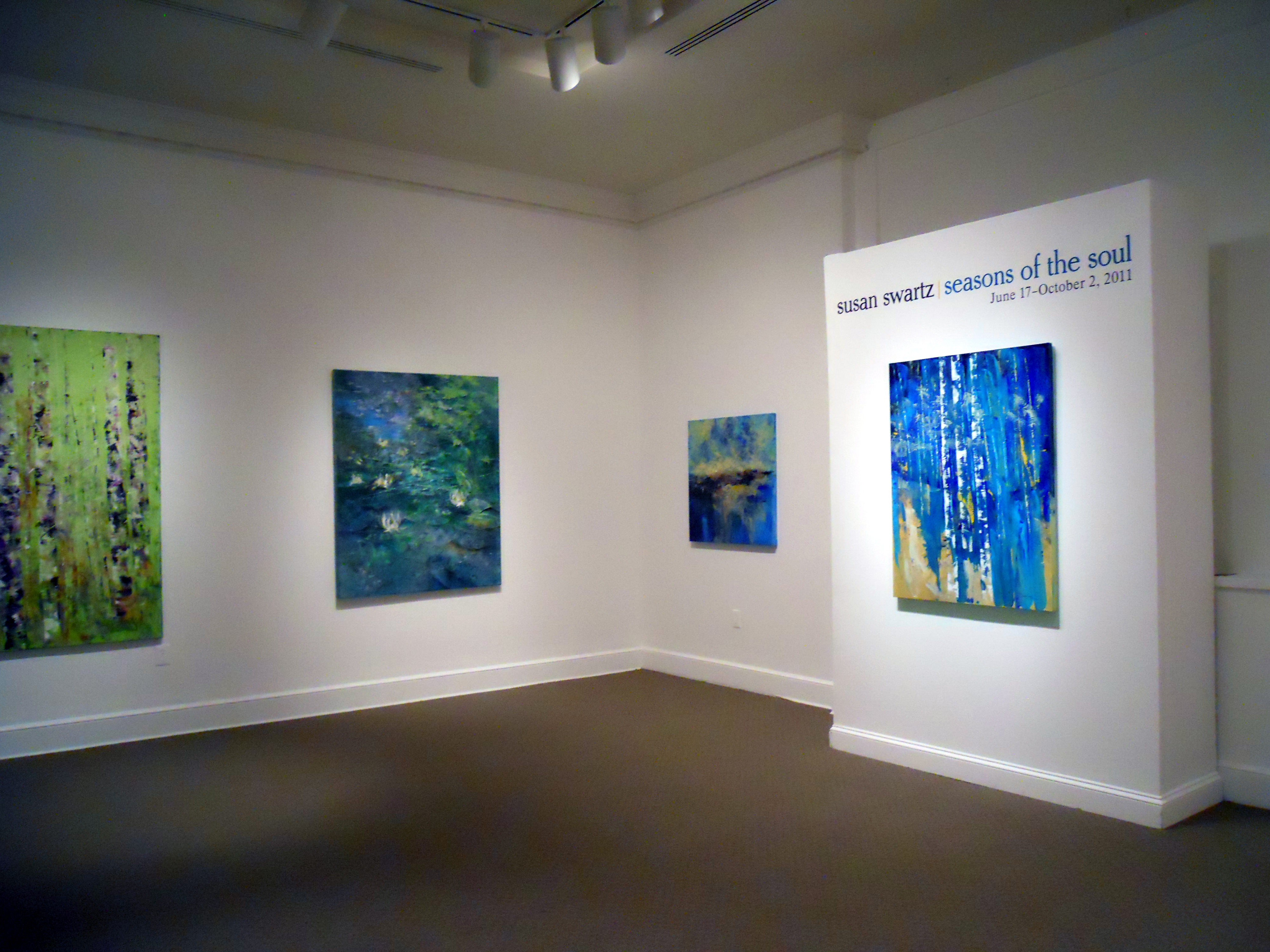 Installation view of Susan Swartz: Seasons of the Soul