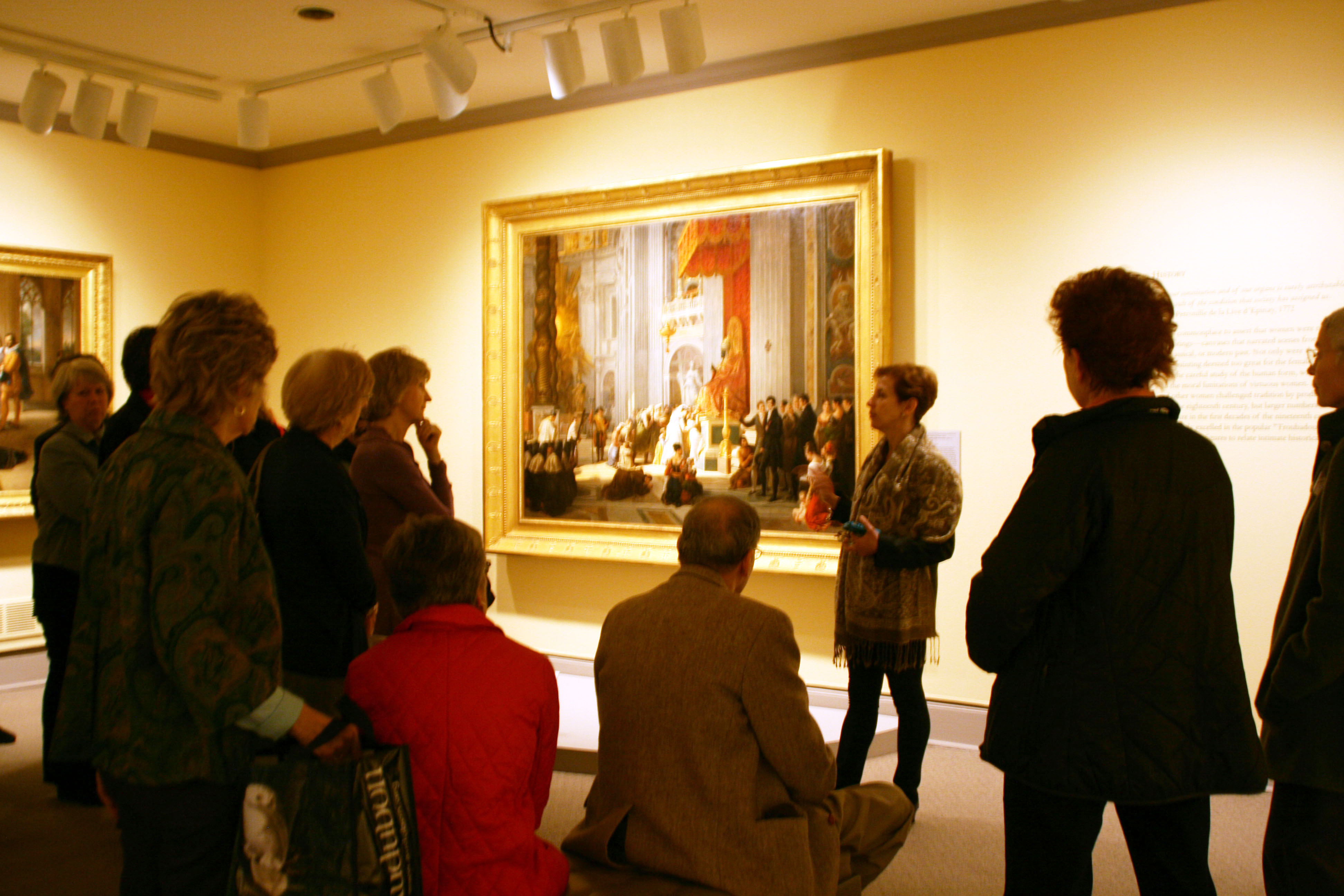 Chief Curator Jordana Pomeroy leads a tour on Member Preview Day