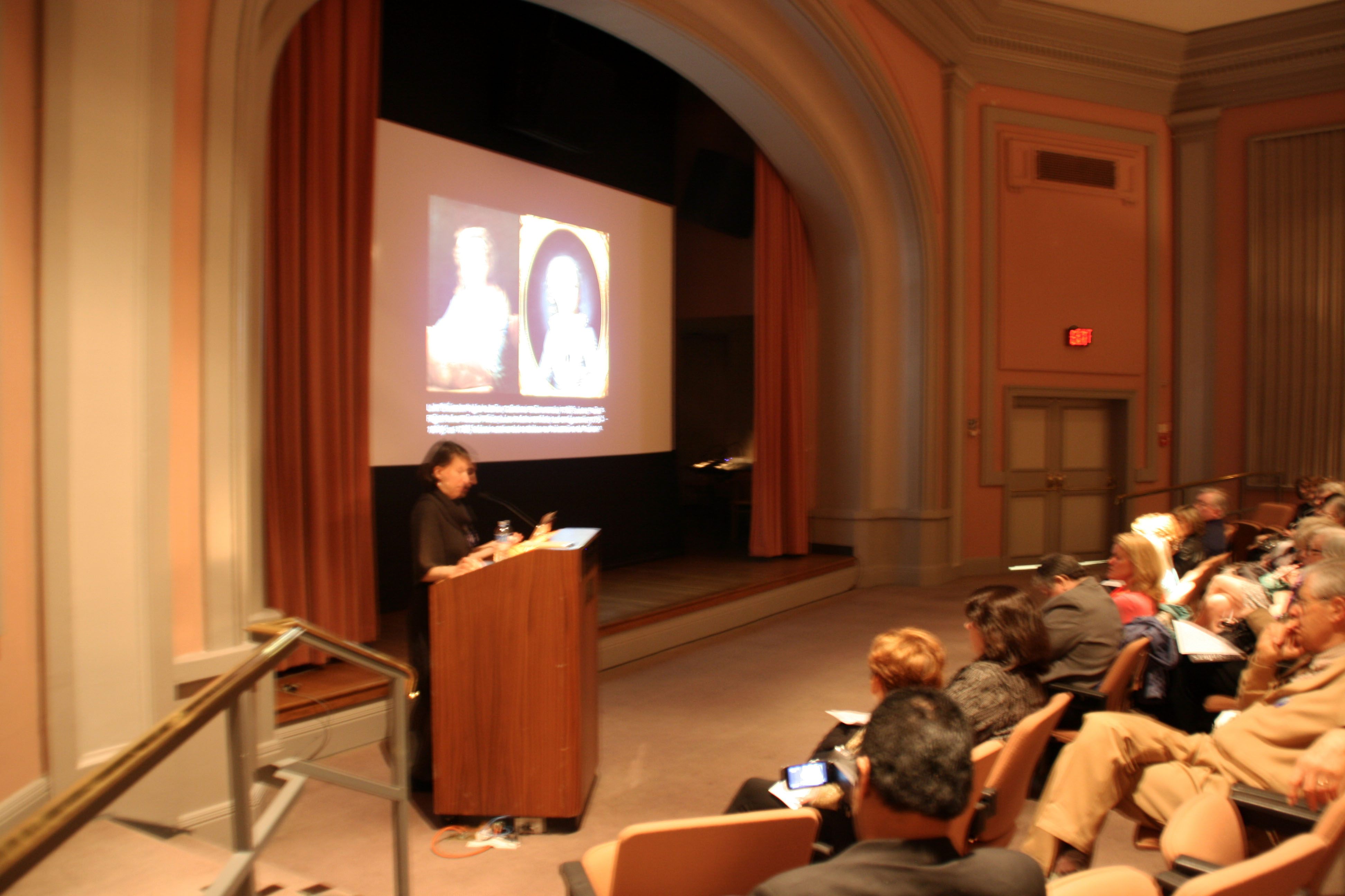 """Laura Auricchio discussing """"Royalists and Revolutionaries"""" on Member Preview Day"""