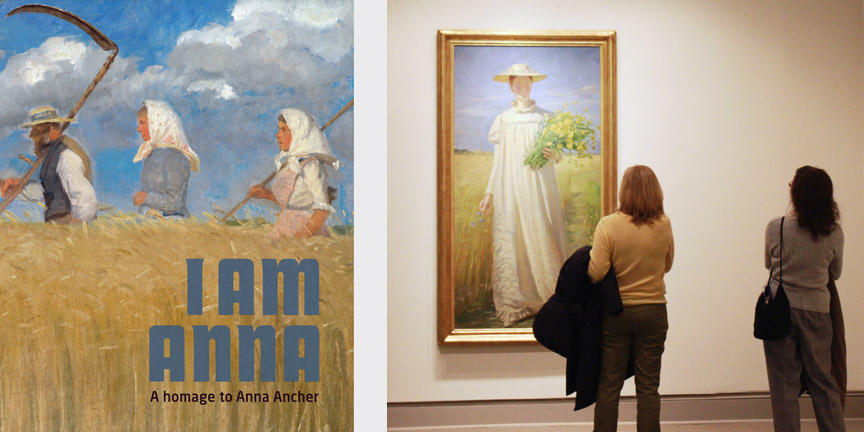 I am Anna (left) and NMWA visitors viewing Michael Ancher's portrait of Anna Ancher, on view in A World Apart