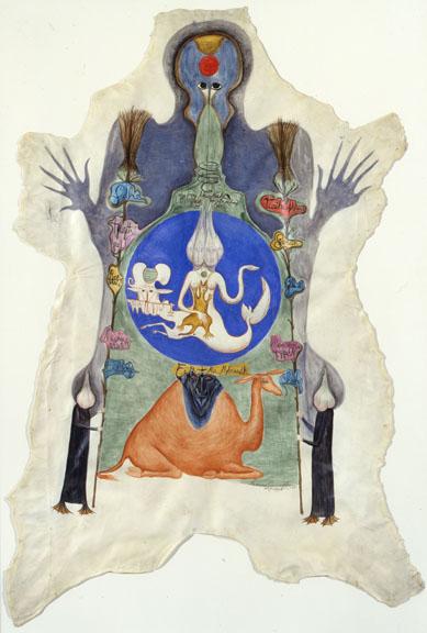 Leonora Carrington, Samhain Skin, 1975; Wallace and Wilhelmina Holladay; © 2012 Leonora Carrington / Artists Rights Society (ARS), New York