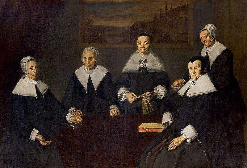 Frans Hals, Regentesses of the Old Men's Alms House, Haarlem, 1664; Oil on canvas, 67 x 92 in.; Frans Hals Museum