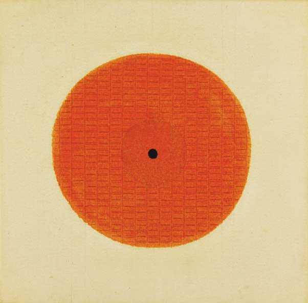 Il Cerchio (The Circle), 1967; Tempera and pencil on canvas; Courtesy of Archivio Bice Lazzari