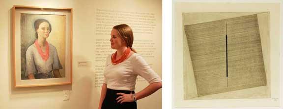 Autoritratto (Self-Portrait), 1929; Oil on cardboard; and Senza titolo (untitled), 1966; Pastel on paper; both courtesy Archivio Bice Lazzari