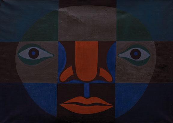 Black Light Series #1: Big Black, 1967; Oil on canvas; Courtesy of Faith Ringgold and ACA Galleries, New York; © Faith Ringgold