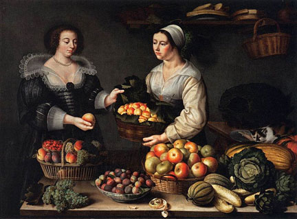 Louise Moillon, The Fruit and Vegetable Costermonger, 1631; Louvre Museum