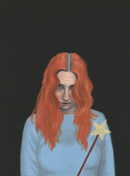 Audrey Niffenegger, Bad Fairy, 2005; Oil on wood panel, 12 x 8 3/4 in.; Collection of Larry and Laura Gerber, Highland Park, Illinois; Image courtesy of the artist