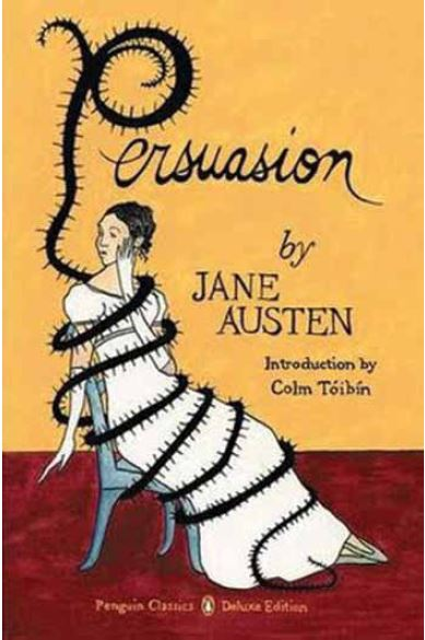"""Book cover for Jane Austen's """"Persuasion,"""" for Penguin; Ink and gouache on Bristol board; Courtesy of the artist"""