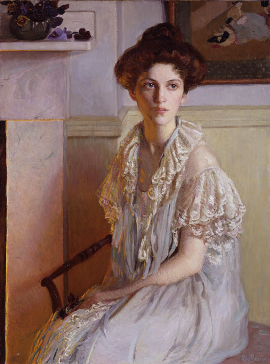Lilla Cabot Perry, Lady With a Bowl of Violets, ca. 1910; NMWA, Gift of Wallace and Wilhelmina Holladay