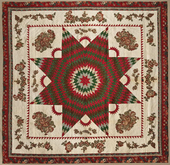 Star of Bethlehem Quilt, ca. 1830; Cotton, 95 x 95 ½ in.; Brooklyn Museum, Gift of Alice Bauer Frankenberg; 59.151.7; Photography by Gavin Ashworth, 2012, courtesy of the Brooklyn Museum