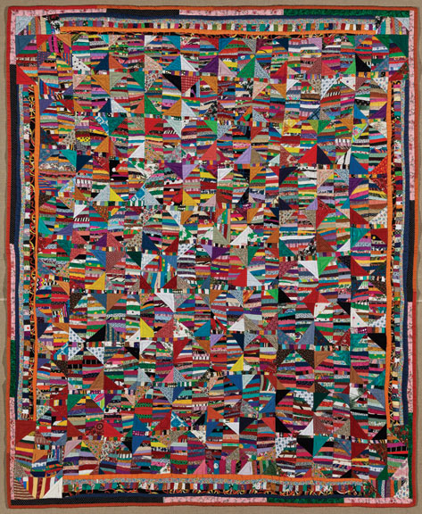 Anna Williams, Quilt, 1995; Cotton and synthetics, 76 ¼ x 61 ½ in.; Brooklyn Museum, Gift in memory of Horace H. Solomon, 2011.18; Photography by Gavin Ashworth, 2012, courtesy of the Brooklyn Museum