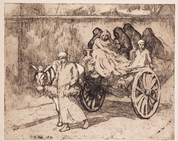 Milk Delivery, Cairo, 1930; Soft-ground etching with aquatint on paper