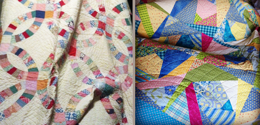 Ashley's quilt (left) and Stephanie's (right)