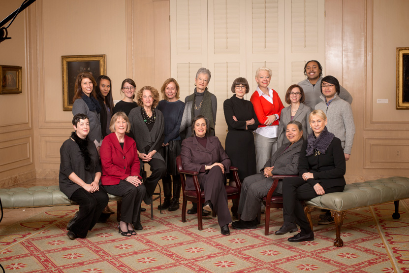 On January 21, a group of women museum directors, supporting staff members, and journalists gathered at NMWA; Photography by Joseph Marvin