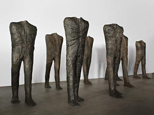 Magdalena Abakanowicz, Walking Figures (group of 10), 2009; Bronze, each approximately 106 ¼ x 35 ⅜ x 55 ⅛ in.; All images © Magdalena Abakanowicz, Courtesy of Marlborough Gallery, New York