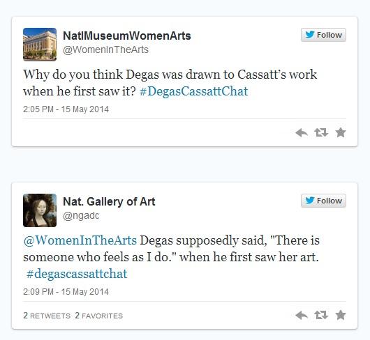 #DegasCassatt Twitter Chat