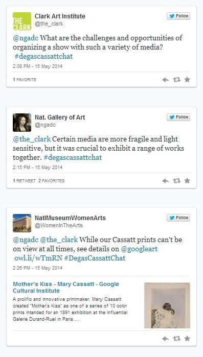 #DegasCassattChat Twitter conversation