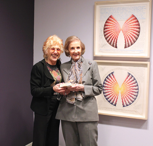 Judy Chicago at NMWA with museum Founder Wilhelmina Cole Holladay; Photo Laura Hoffman