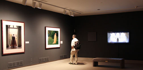 Installation view with works by Tschäpe