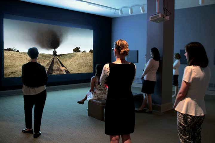 Alex Prager, La Petite Mort, 2012; Film HD, shot on Red Epic camera, with color and sound; Courtesy of the artist, M+B Gallery, Los Angeles, and Lehmann Maupin Gallery, New York and Hong Kong; Installation photo Laura Hoffman