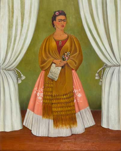 Frida Kahlo, Self-Portrait Dedicated to Leon Trotsky, 1937; The Honorable Clare Boothe Luce; © 2012 Banco de México Diego Rivera Frida Kahlo Museums Trust, Mexico, D.F. / Artists Rights Society (ARS), New York