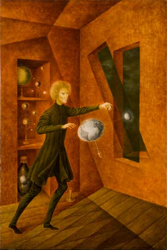 Remedios Varo, Fenómeno de ingravidez (Phenomenon of Weightlessness), 1963; Oil on canvas, 29 1/2 x 19 5/8 in.; Gift from Private Collection