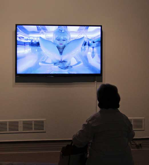 Mariko Mori, Miko no Inori, 1996; Color video and sound; Collection of Pérez Art Museum Miami, Courtesy of Dennis and Debra Scholl; Photo Laura Hoffman