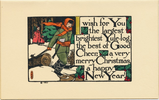 Dulah Evans Krehbiel card, The Ridge Crafts, Parkridge Illinois 1911; National Museum of Women in the Arts Betty Boyd Dettre Library and Research Center