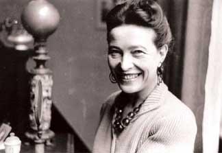 Simone de Beauvoir; Photo by Pierre Boulat, collection Sylvie Le Bon de Beauvoir
