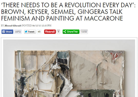 """ARTnews covers the panel discussion """"Painting and the Legacy of Feminism"""""""