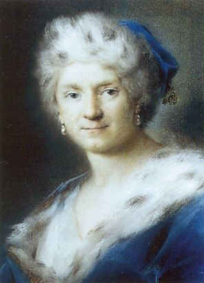 Rosalba Carriera, Self Portrait as Winter, 1731; Pastel on paper; Gemäldegalerie, Dresden