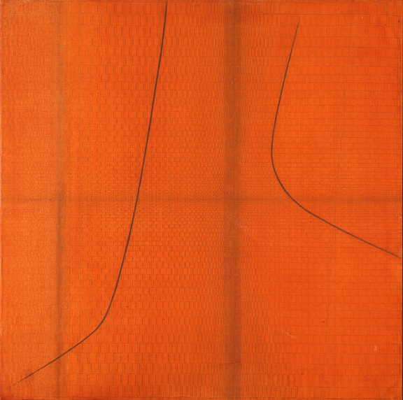 """Bice Lazzari, """"Misure"""" Doppio Ritmo, 1967; Tempera and graphite on canvas, 29 1/2 x 29 1/2 in.; NMWA, Gift of Archivio Bice Lazzari"""