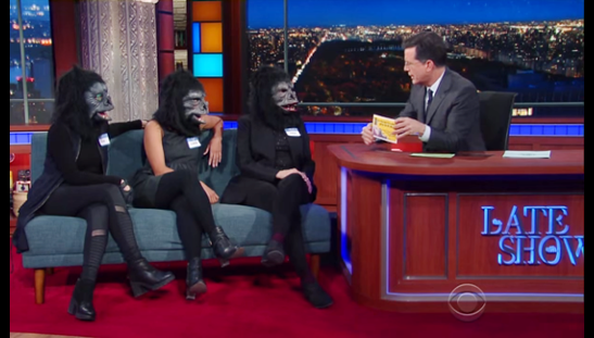 The Guerrilla Girls on The Late Show with Stephen Colbert