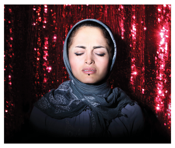 """Newsha Tavakolian, Maral Afsharian from the series """"Listen,"""" 2010; Pigment print photograph, 23 5/8 x 31 1/2 in.; Courtesy of the artist and East Wing Contemporary Gallery"""