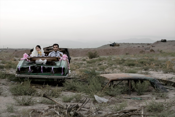 "Gohar Dashti, Untitled #5, from the series ""Today's Life and War,"" 2008, Chromogenic print, 27 5/8 x 41 3/8 in.; Courtesy of the artist, Azita Bina, and Robert Klein Gallery; © Gohar Dashti"