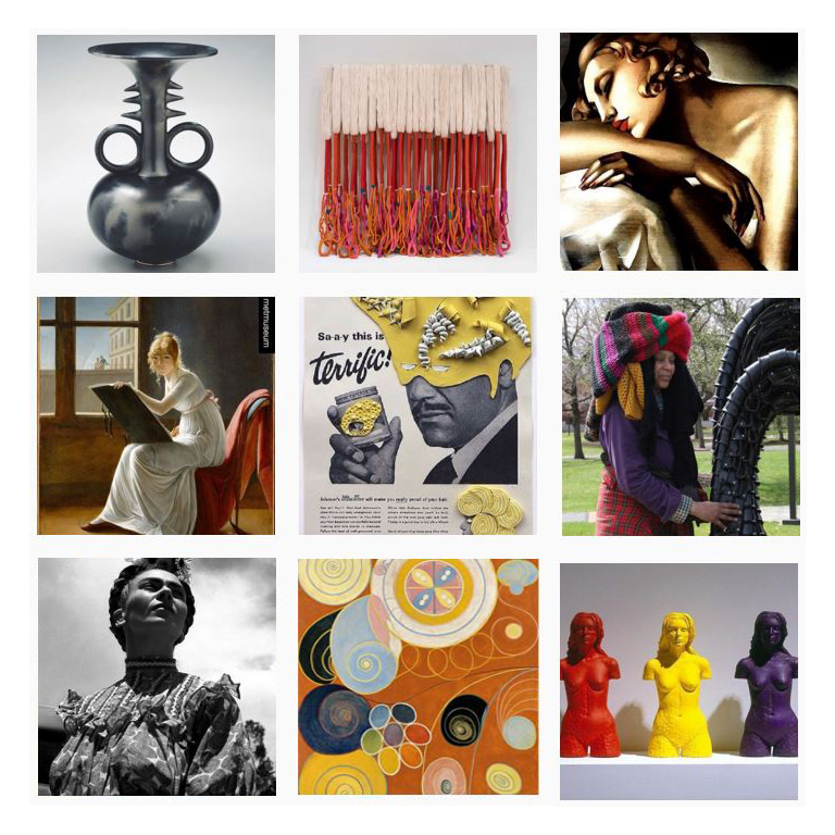 #5womenartists posts on Instagram