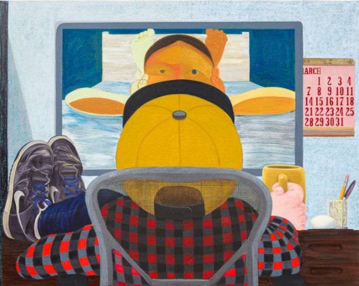 Nicole Eisenman, Long Distance, 2015; Hyperallergic praises her versatility and new exhibitions