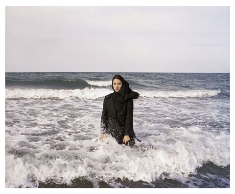 "Newsha Tavakolian, Untitled, from the series ""Listen,"" 2010; Pigment print, 39 3/8 x 47 1/4 in.; Courtesy of the artist and East Wing Contemporary Gallery"