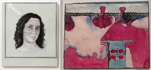 Hyperallergic examines (left) and Georgia O'Keefe's watercolors (right)