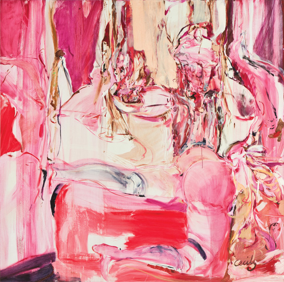 Cecily Brown, Service de Luxe, 1999; Oil on linen; Rubell Family Collection, Miami