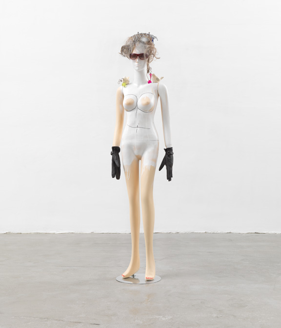 Isa Genzken, Schauspieler, 2013; Mixed media, 72 1/4 x 18 1/2 x 10 1/2 in.
