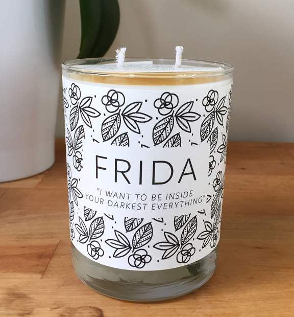 Limited-edition NMWA Frida Candle by Handmade Habitiat; Photo: Adriana Regalado and Malik Cherry, NMWA