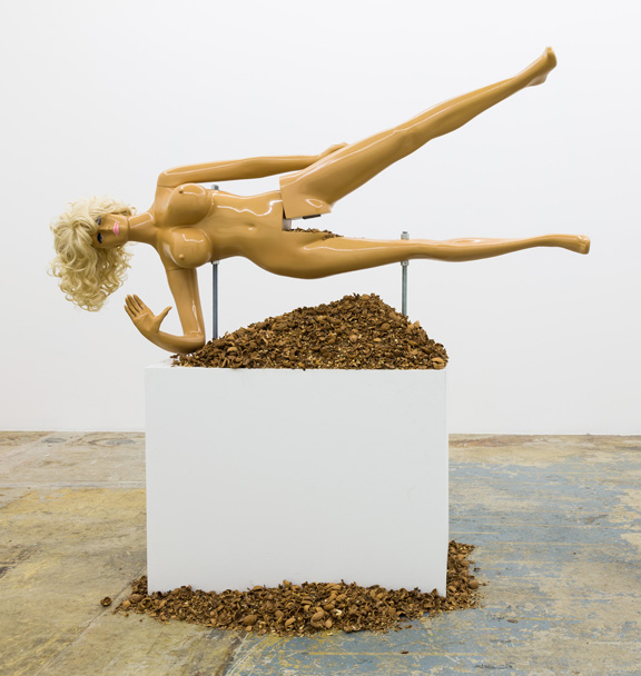 Jennifer Rubell, Lysa III, 2014; Fiberglass, resin, and steel; Rubell Family Collection, Miami