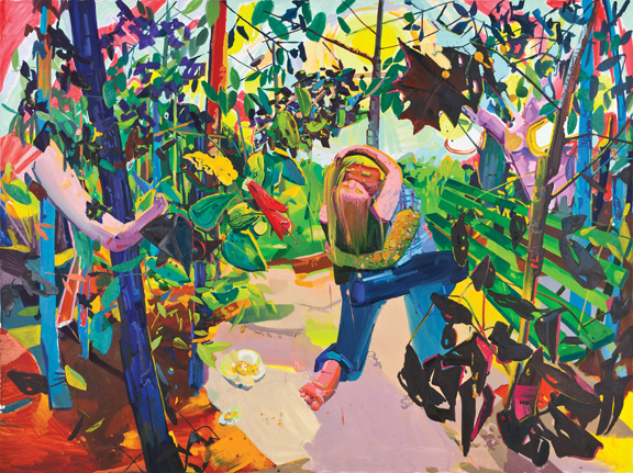 Dana Schutz, Lovers, 2003; Oil on canvas; Rubell Family Collection, Miami