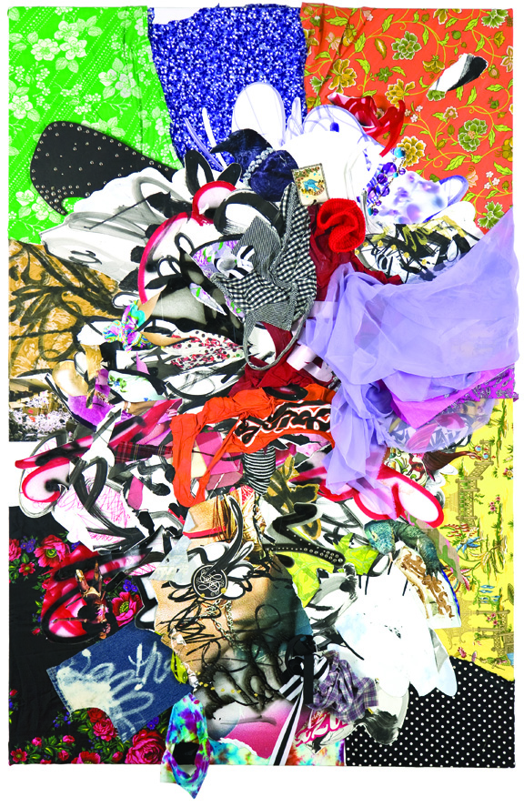 Shinique Smith, Menagerie, 2007; Mixed media on canvas; Rubell Family Collection, Miami