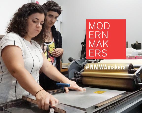 Left to right: Alessandra Echeverri, owner of Typecase Industries, and Sahar Naderi; Photo: Adriana Regalado and Malik Cherry, NMWA