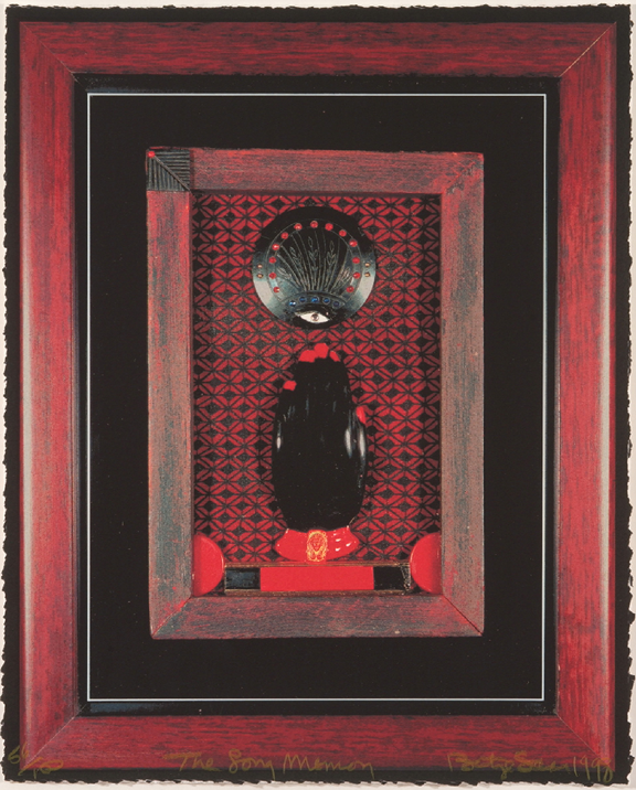 Betye Saar, The Long Memory (from NMWA 10th Anniversary Print Portfolio), 1998; Serigraph on paper; 14 1/4 x 11 5/8 in.; NMWA, Museum purchase: funding provided by the Kasser Foundation
